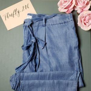 [Ava & Viv] 3X Chambray Tie Waisted Pants